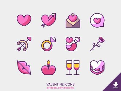 Valentine Icons Freebie