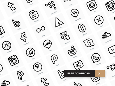 30 Free social media icon