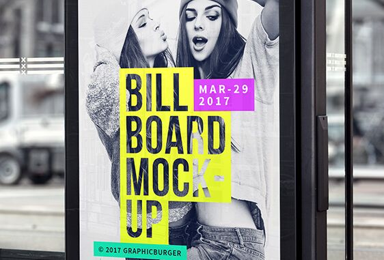 Bus Stop Billboard MockUp #2