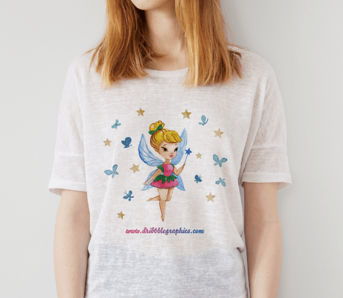 Free Gorgeous Girl T-Shirt MockUp Psd