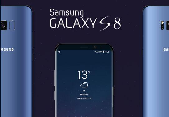 Samsung Galaxy S8 Landing Page Mockup