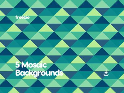 5 Free Flat Mosaic Pattern Background