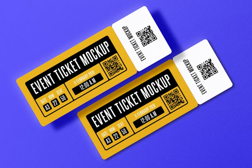Event Ticket PSD Mockup