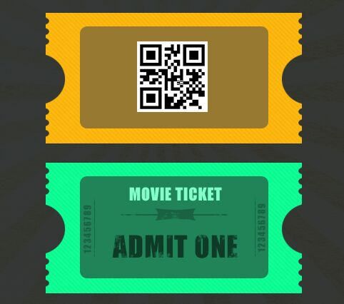 FRESH MOVIE TICKET DESIGN