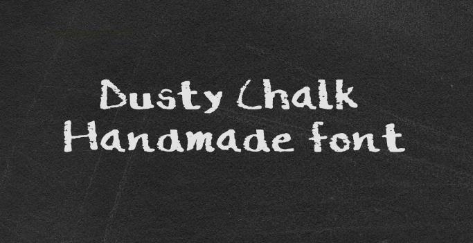 Free Dusty Chalk Handmade Font