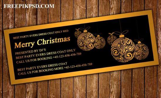 Free Merry Christmas Facebook Cover Psd