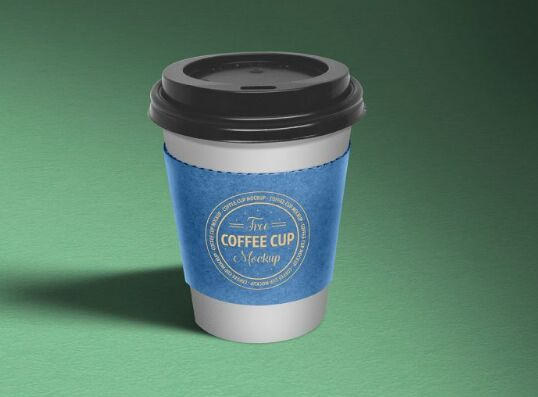 Free Paper Coffee Cup Mockup PSD