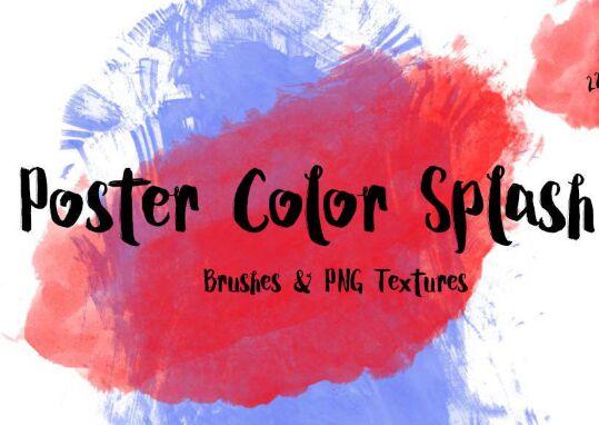 Free Poster Color Splash Textures