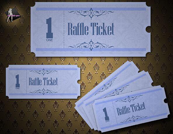 Raffle Tickets psd