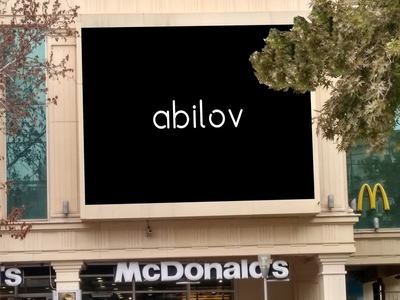 Baku McDonalds Billboard Mockup Free