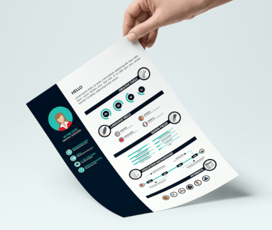 130 New Fashion Resume CV Templates For Free Download 365 Web - Infographic Resume Templates