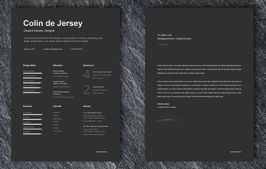 FREE Resume & Cover Letter Templates For Illustrator