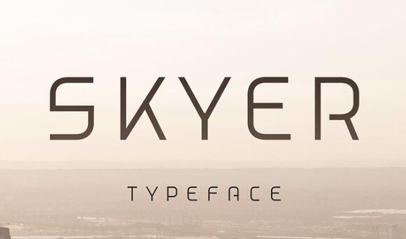 Skyer Typeface