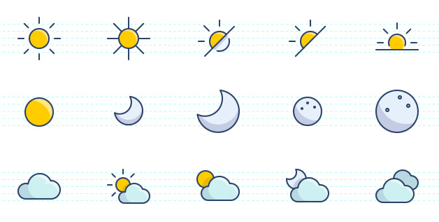 The Color Icons Set Weather