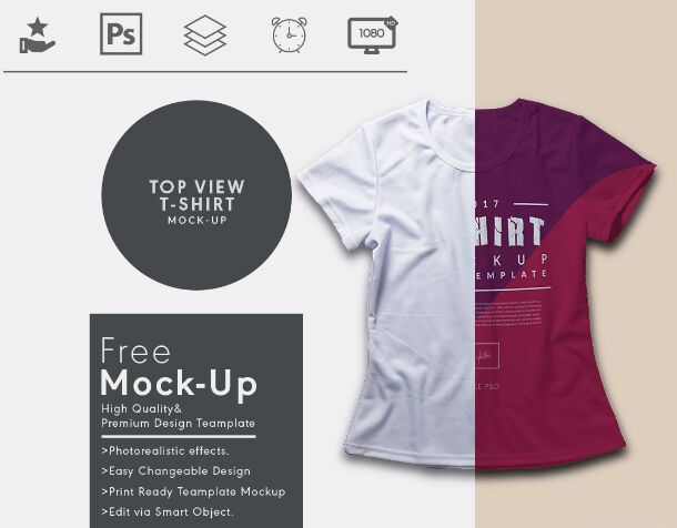 Top View T Shirt Mock Up