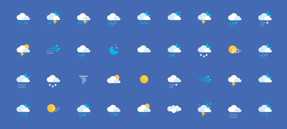 Free Weather Icons (AI+PSD)