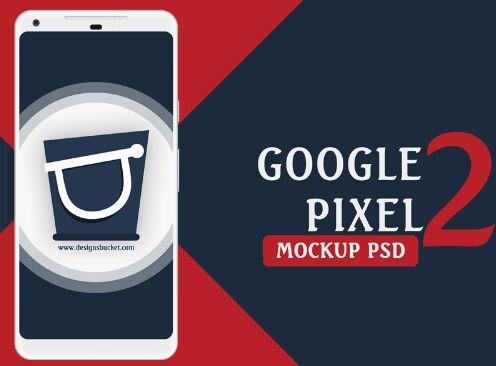 Google Pixel 2 Mockup PSD