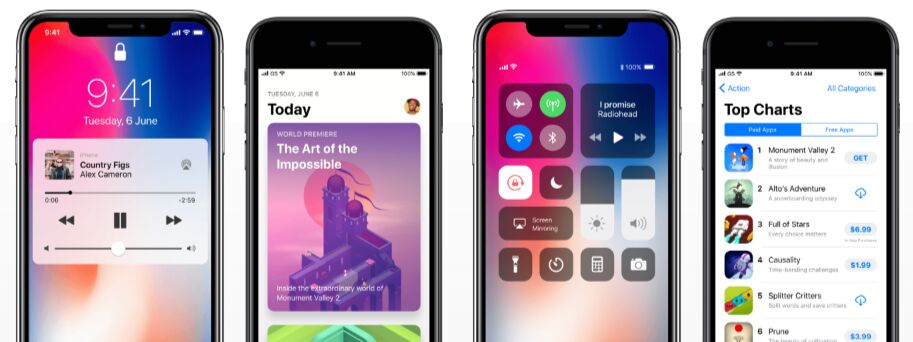 iOS 11 GUI