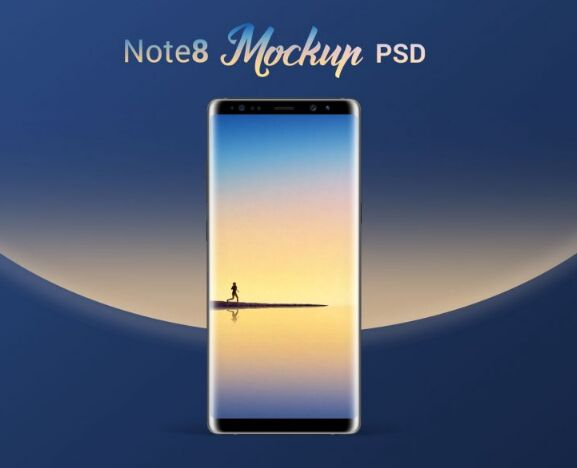 Free Samsung Galaxy Note8 Design Phone Mockup