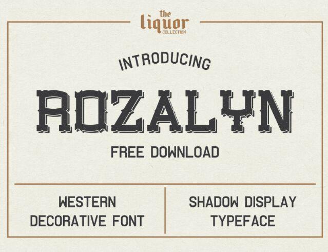 Rozalyn Shadow FREE TYPEFACE