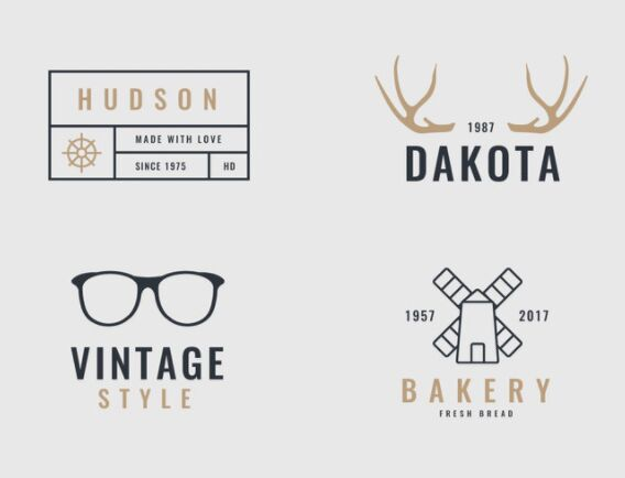 4 Retro and Vintage Logos