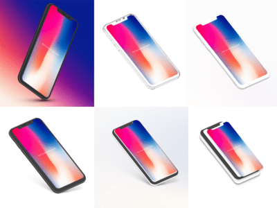 Free iPhone X Mockup Bundle