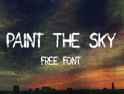 Paint the Sky Free Brush Font