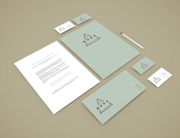 Perspective Branding Stationery Mockup
