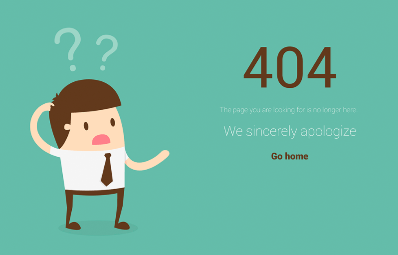 404 Not Found Free ( PSD )