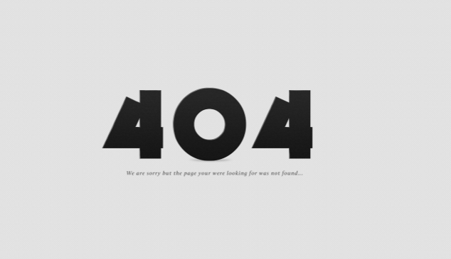 TEMPLATE 404 ERROR PAGE