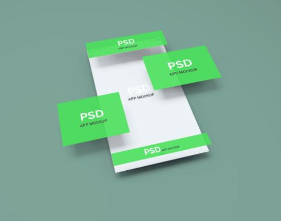 App Display PSD Mockup