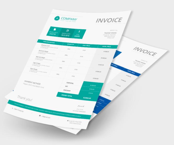 Company Invoice Free PSD