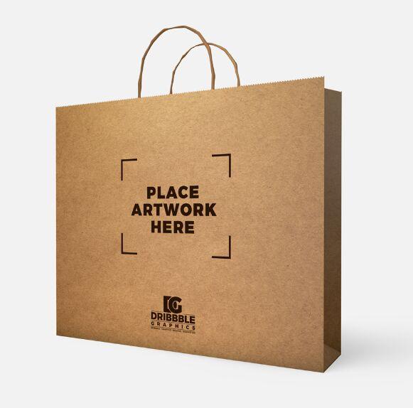 Free PSD Paper Bag Mockup 2018
