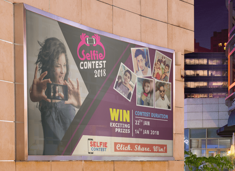 Selfie Contest Billboard