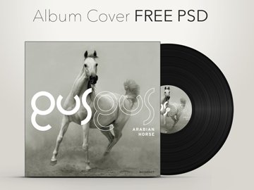 Free CD Album Cover Graphic Psd