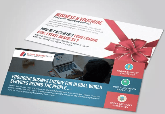 Business Gift Voucher Free PSD Template