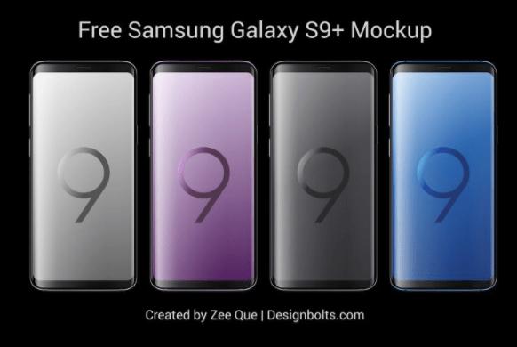 Free Samsung Galaxy S9 & S9+ Mockup PSD & Vector Ai