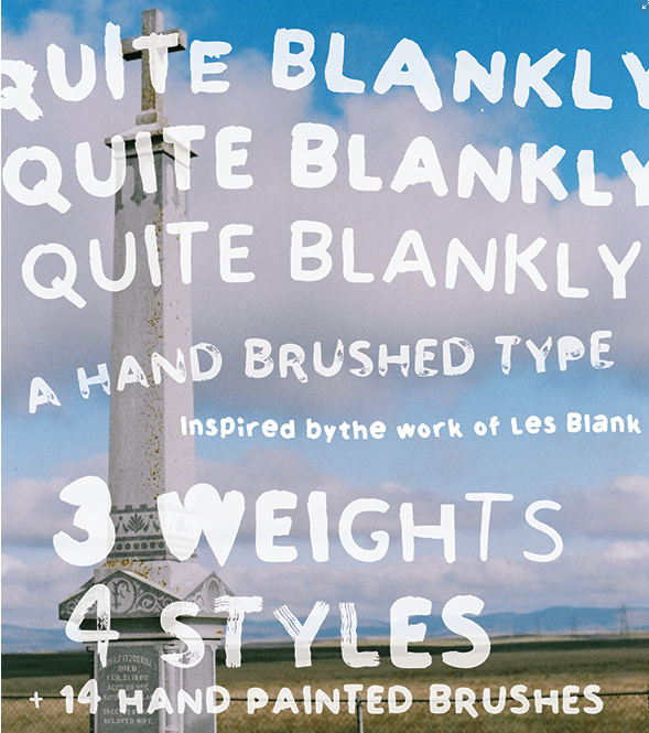 QUITE BLANKLY - DISPLAY FONT