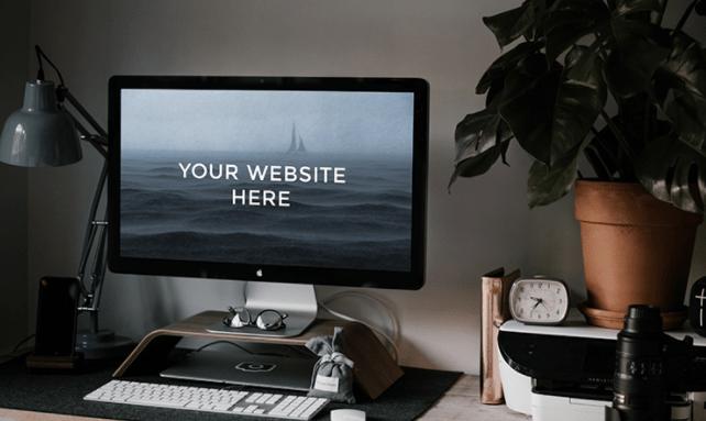 Workspace iMac Mockup