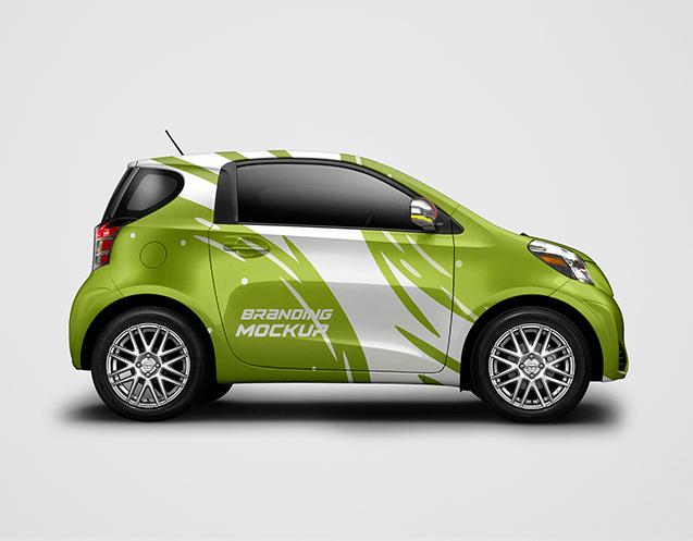 Electric Car Mockup free PSD