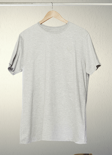 Free grey hanging T-shirt mock up
