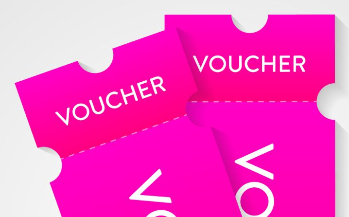 Voucher vector illustrations