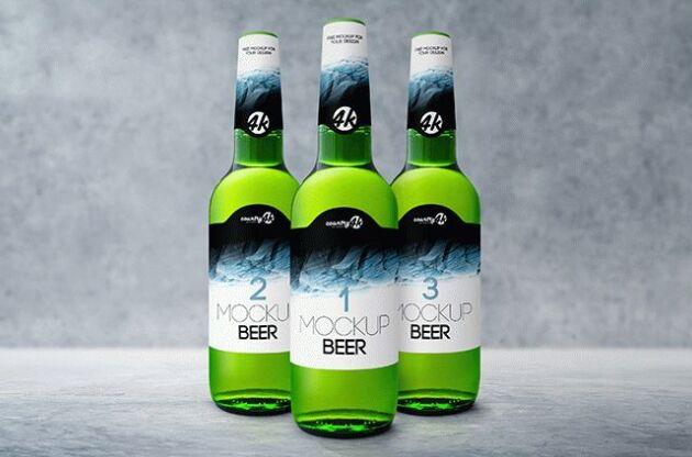 Bottle Beer Free PSD MockUp-min