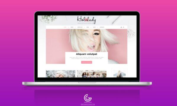 Free MacBook Pro Website Mockup PSD