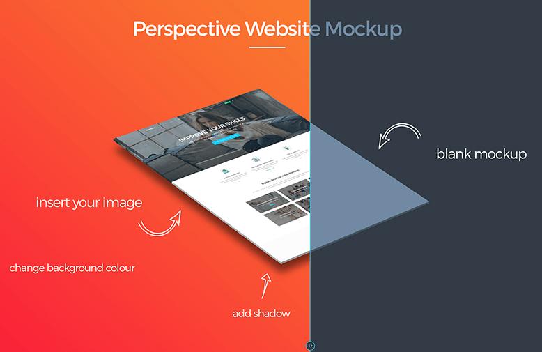 Free Perspective Website Mockup