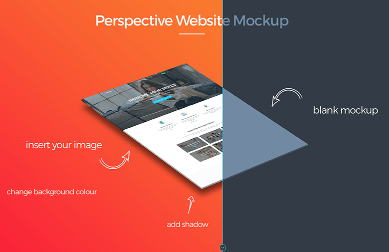 Free Perspective Website Mockup