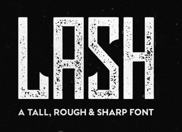Lash Rough Font