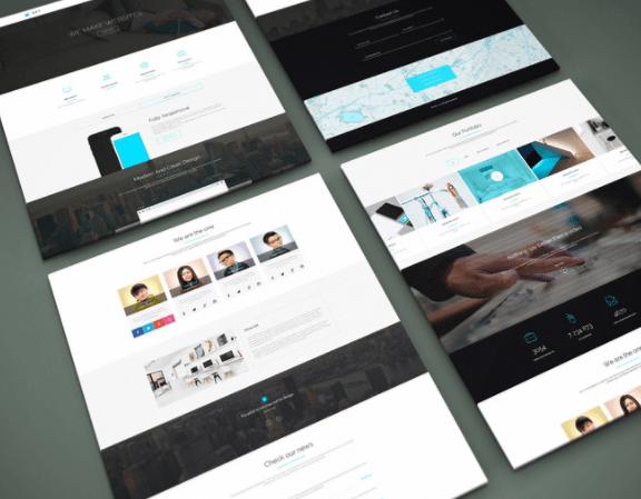 Perspective Website PSD Mock-Up