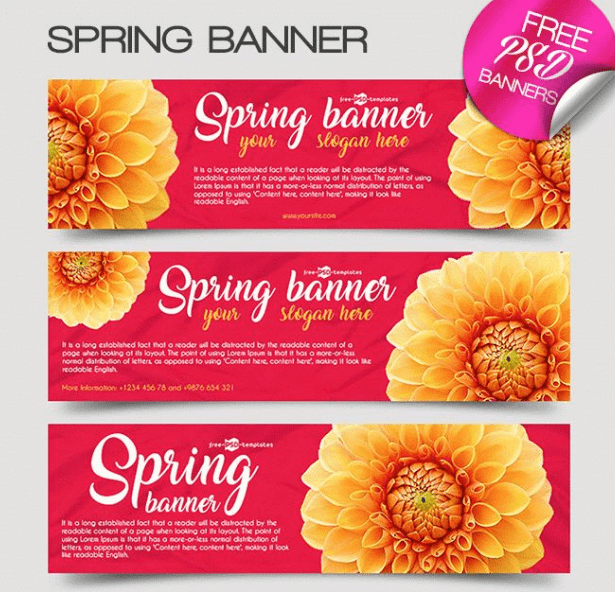 3 Free Spring Banner Templates-min