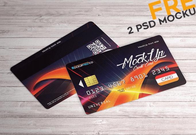 Credit Card – 2 Free PSD Mockups-min